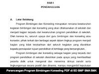 Perancangan Program Bimbingan Konseling PDF di SD SMP SMA SMK