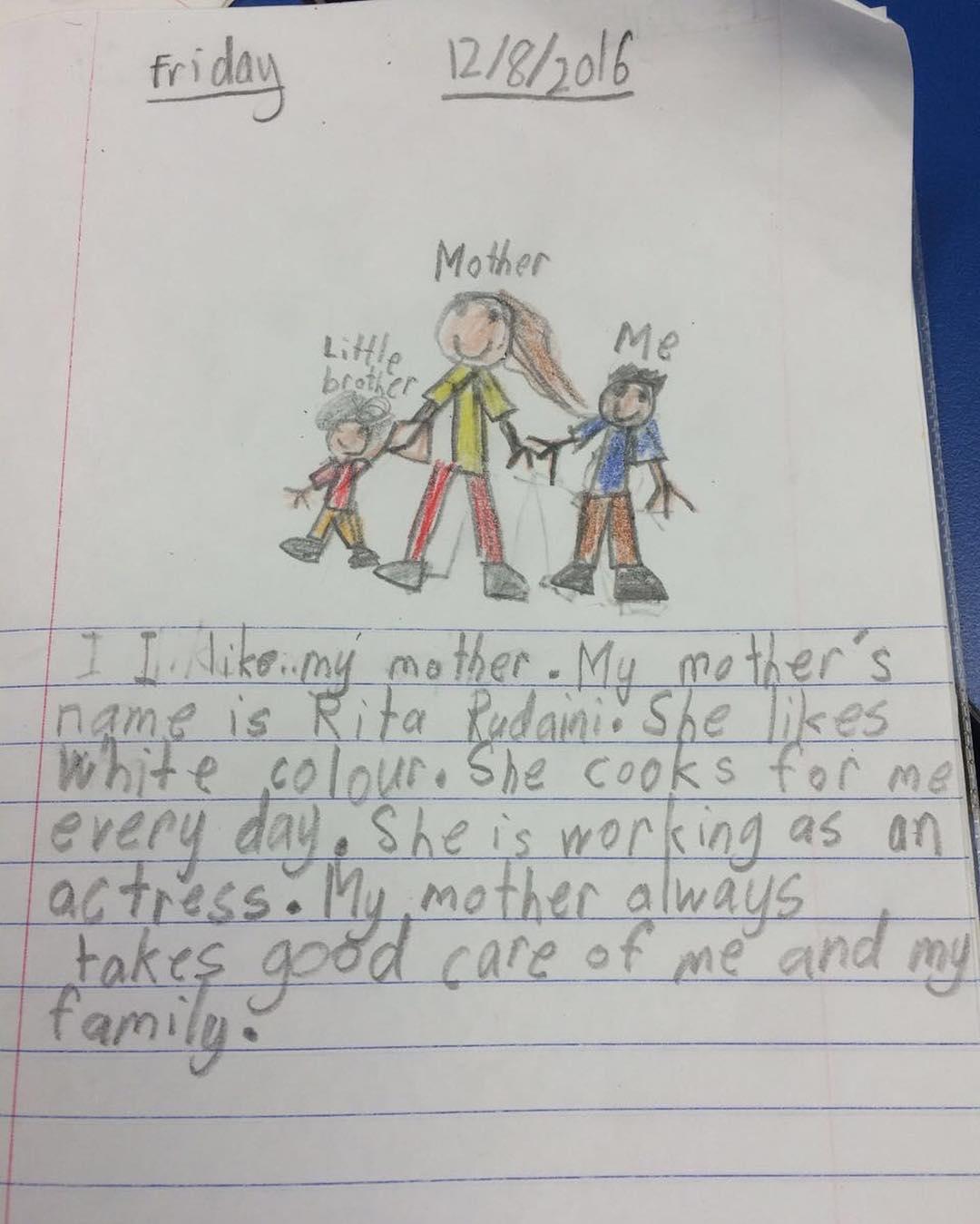 Karangan sedih dari anak Rita Rudaini