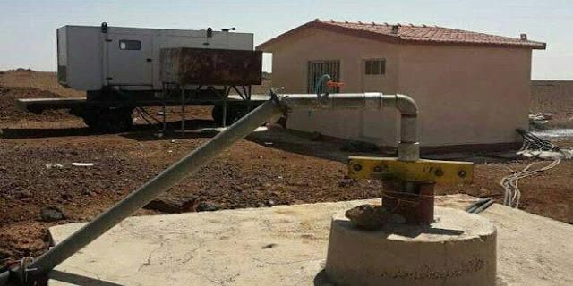 وضع بئر مياه خازمة 12 بالسويداء في الاستثمار.