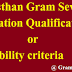 Rajasthan Gram Sevak Education Qualification / Eligibility criteria