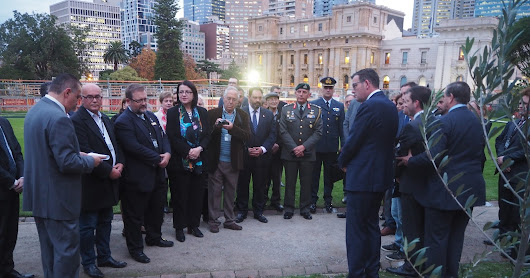 New Memorial to Anzac connection with Greece erected at Victorian Parliament