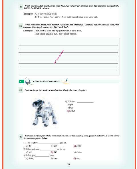 9. Sınıf Yıldırım Yayınları İngilizce A1.1 Ders Kitabı 39. Sayfa Cevapları Theme 3 Personality and Character