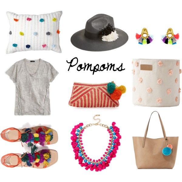 Colorful pompom accessories