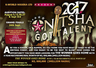 EVENT: How To Buy form And Audition Dates for Onitsha Got Talent 2017