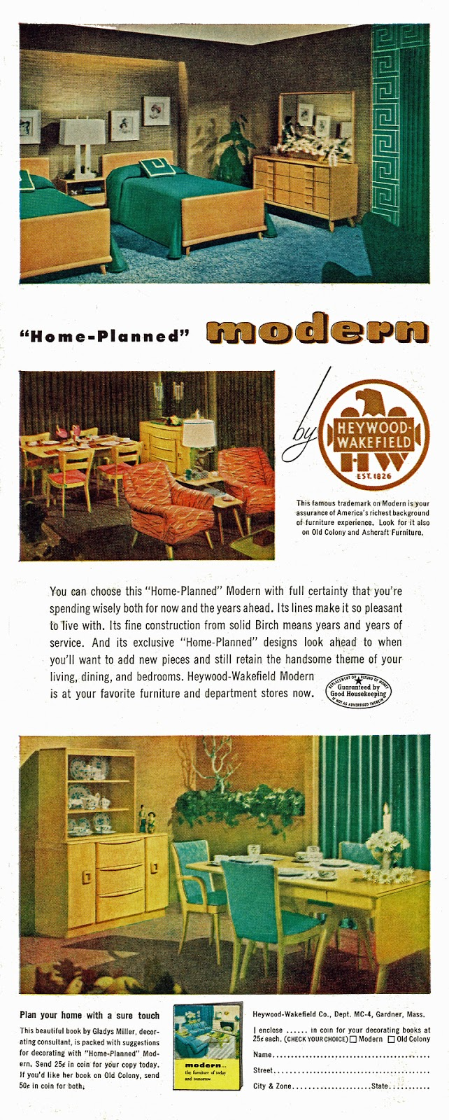 Mad For Mid Century Heywood Wakefield Vintage Furniture Ad