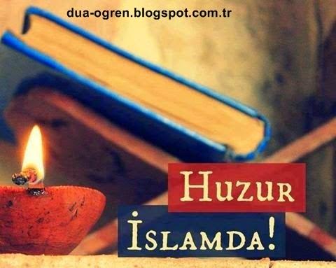 huzur için dua