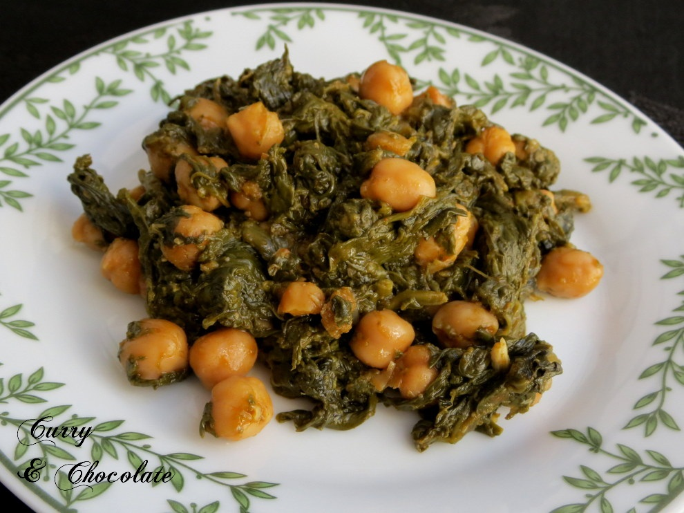 Espinacas con garbanzos - Spinach with chickpeas