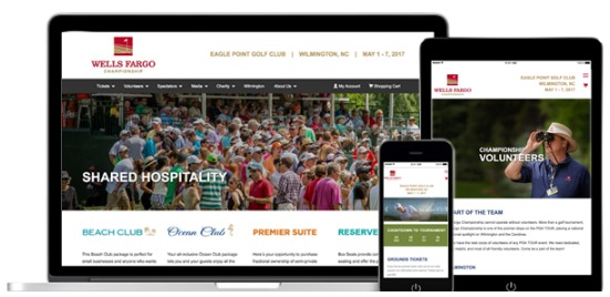 CC Communications has been the trusted digital partner of the Wells Fargo Championship for over 14 years.