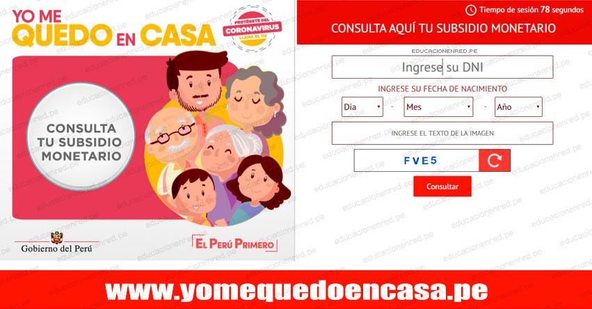 WWW.YOMEQUEDOENCASA.PE - Bono de S/ 380 - Ingresa tu DNI