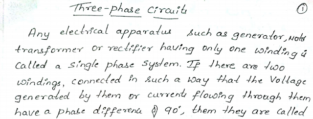 Notes on 3 - Phase Circuits