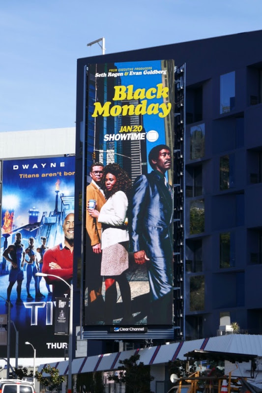 Black Monday Showtime series billboard