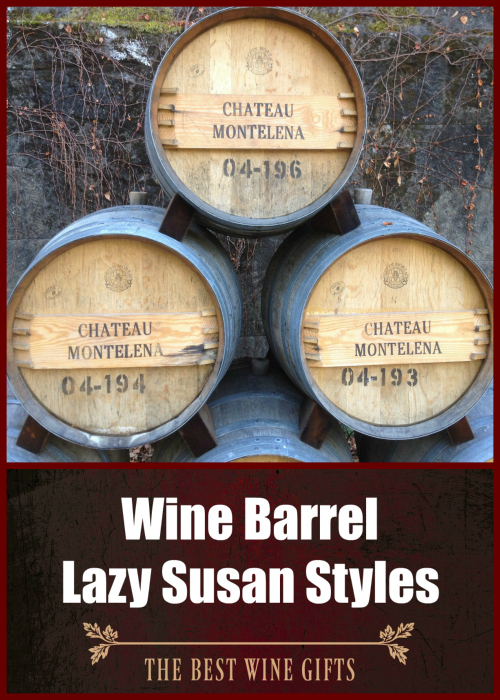 Wine Barrel Lazy Susan Styles