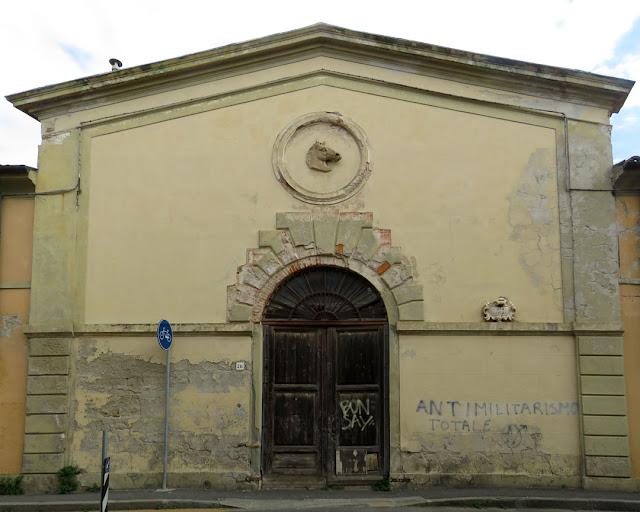 Entrance to the former stables, Villa Fabbricotti, Via Roma, Livorno