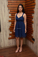 Radhika Mehrotra in a Deep neck Sleeveless Blue Dress at Mirchi Music Awards South 2017 ~  Exclusive Celebrities Galleries 083.jpg