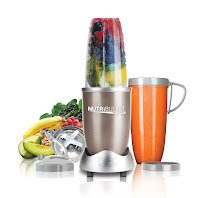 Magic Bullet NutriBullet Pro 900 NB9-0901, with powerful 900 watt motor and patented extractor blades to break down and pulverize fruits, vegetables, frozen fruits, wheat grass, nuts, seeds, ice