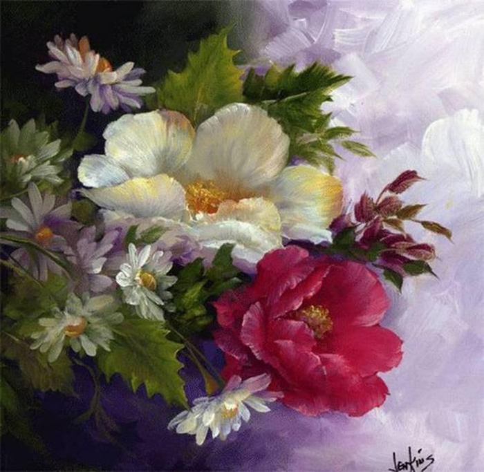 Цветочные картины. Gary Jenkins 21