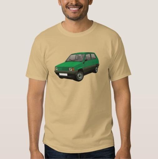 Green Fiat Panda t-shirts
