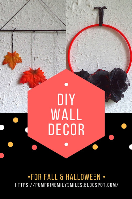 DIY Fall Wall Decor & a DIY Halloween Wall Decor Idea