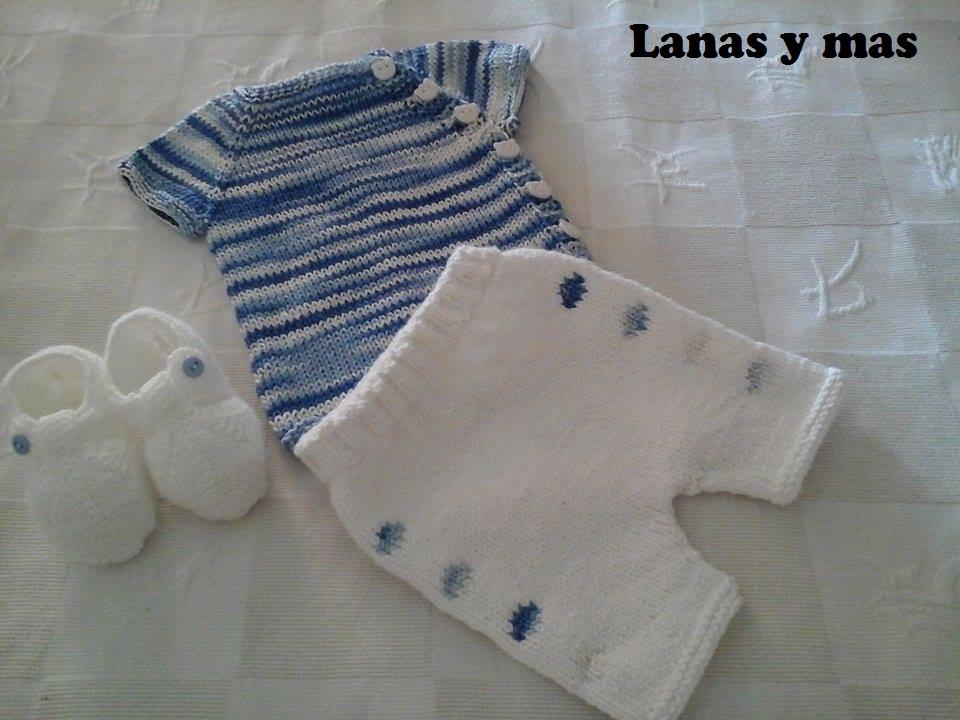 Lanas y m s blog conjuntito para reci n nacido - Como hacer punto de lana para principiantes ...