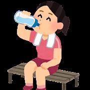 水分補給のイラスト(女性)