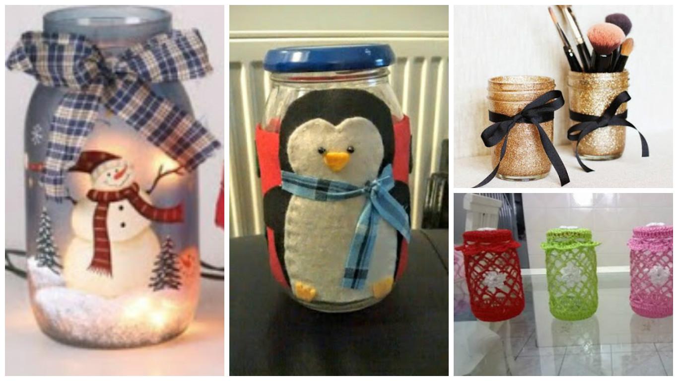 10 ideas y m s reciclando frascos de vidrio de mermelada - Como decorar un sobre ...