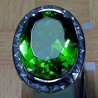 Cincin Batu Permata Green Tektite - ZP 916
