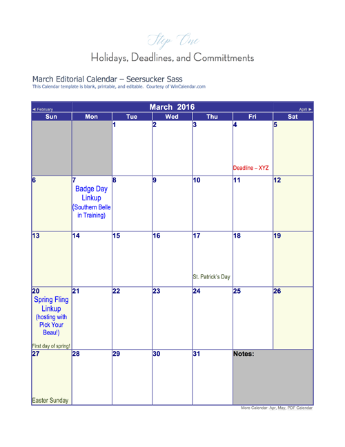 Blogging 101:  How to Create an Editorial Calendar