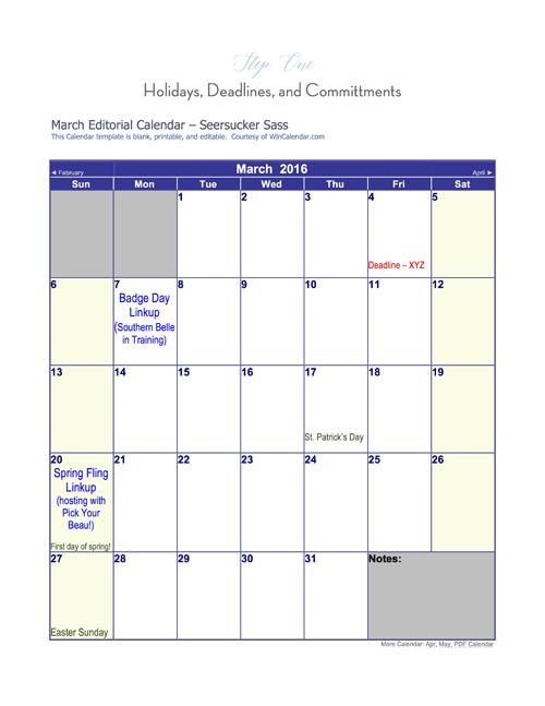 Blogging 101:  How to Create an Editorial Calendar