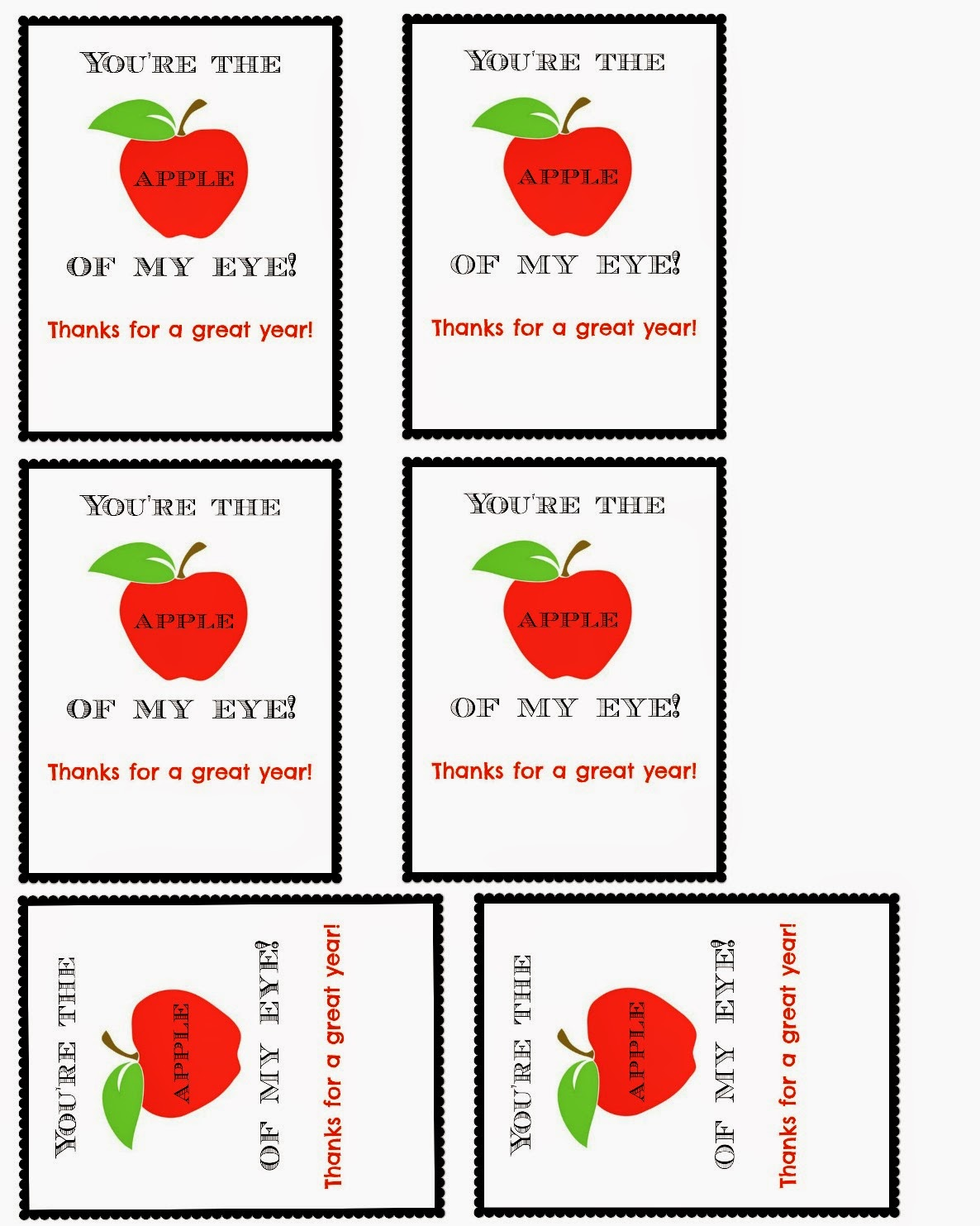 Apple Teacher Or Classmate Appreciation T With Free Printable Amp A Giveaway
