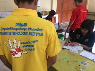 PKKMB UTSU 2017 : BNN Sulut Lakukan Test Urine Peserta dan Dosen