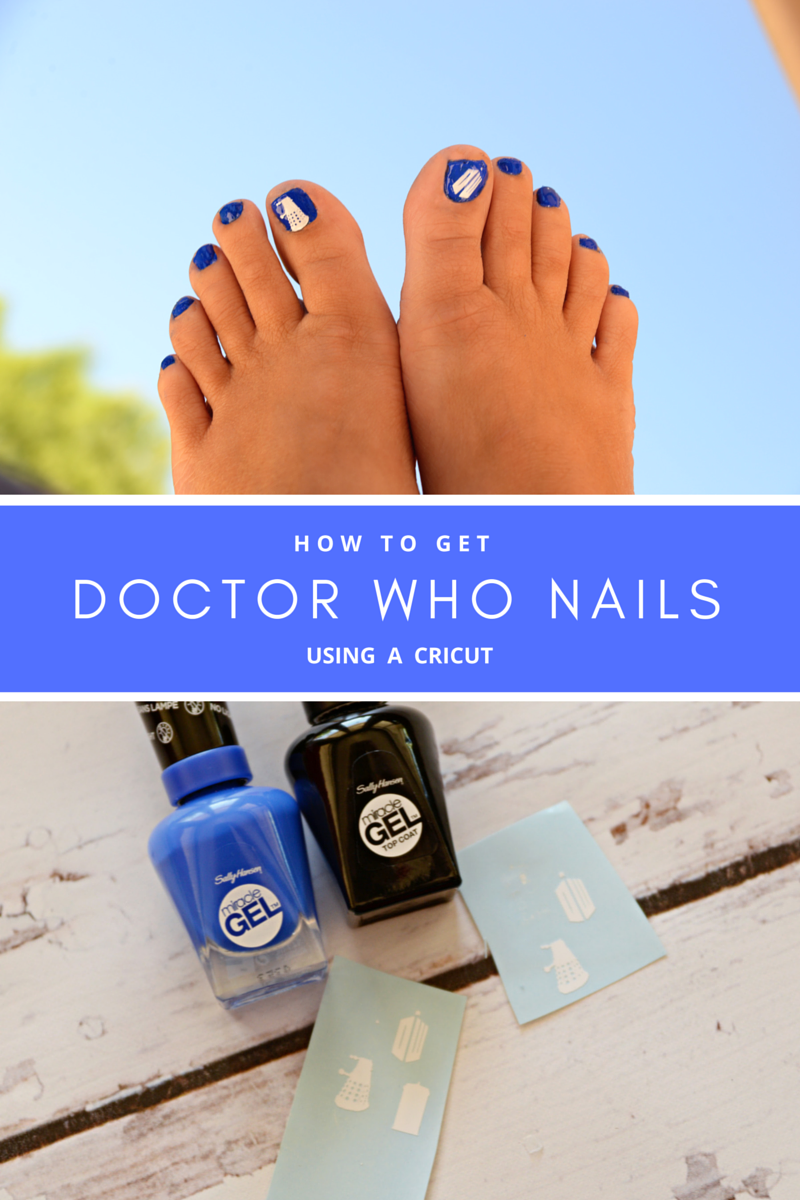 Doctor Who Nails using a Cricut - Housewife Eclectic