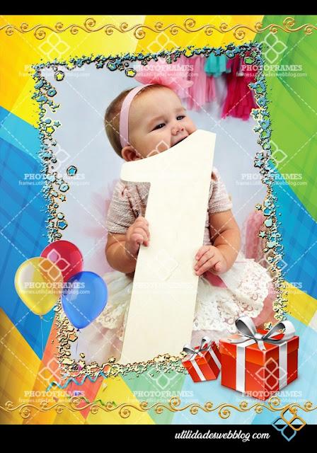 Sencillo pero bonito marco para fotos de cumpleaños en png