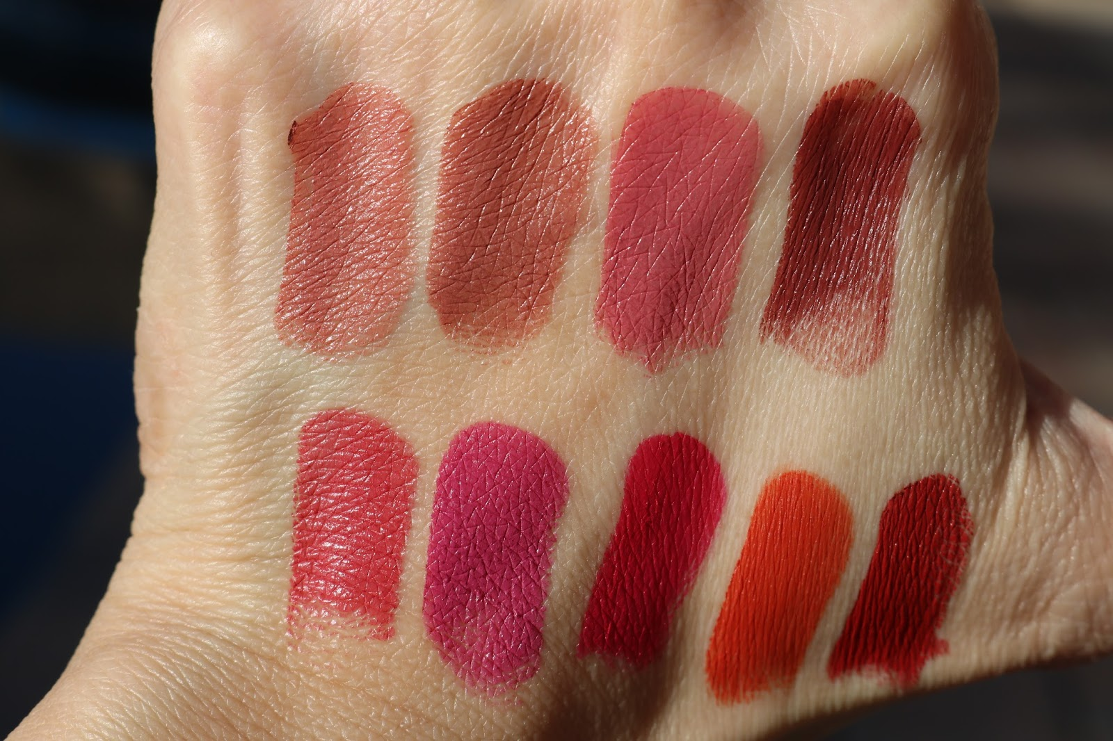 ColourPop Lux Lipsticks in Layover, Pinkies Up, Still Crazy, 27  Ghosted, Sitting Pretty, What If, Foolish, Liquid Courage