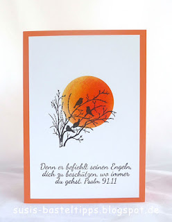 psalm 91 Karte serene silhouettes stempelset von stampin up demonstratorin in coburg