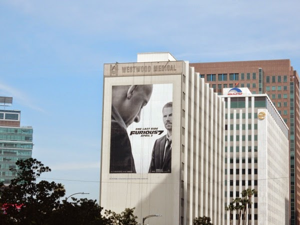 Giant Furious 7 movie billboard