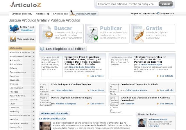 El contenido generado en los directorios de artículos es otra forma de conseguir contenido gratis