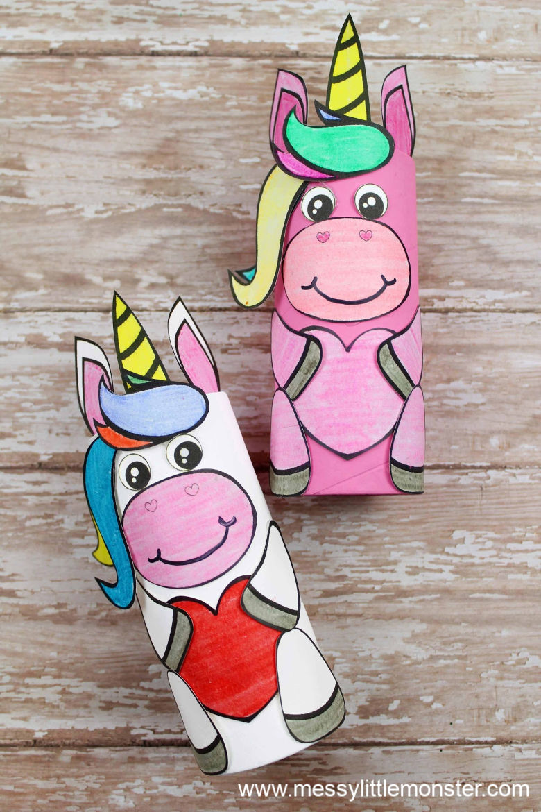 Unicorn craft for preschoolers (with unicorn template)