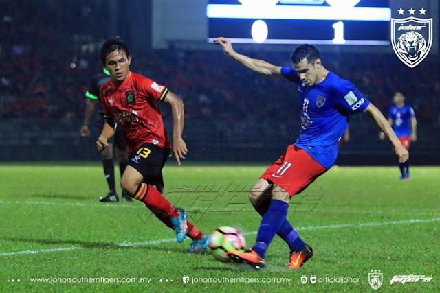 Gonzalo Cabrerra ledak 2 gol untuk JDT vs Sarawak