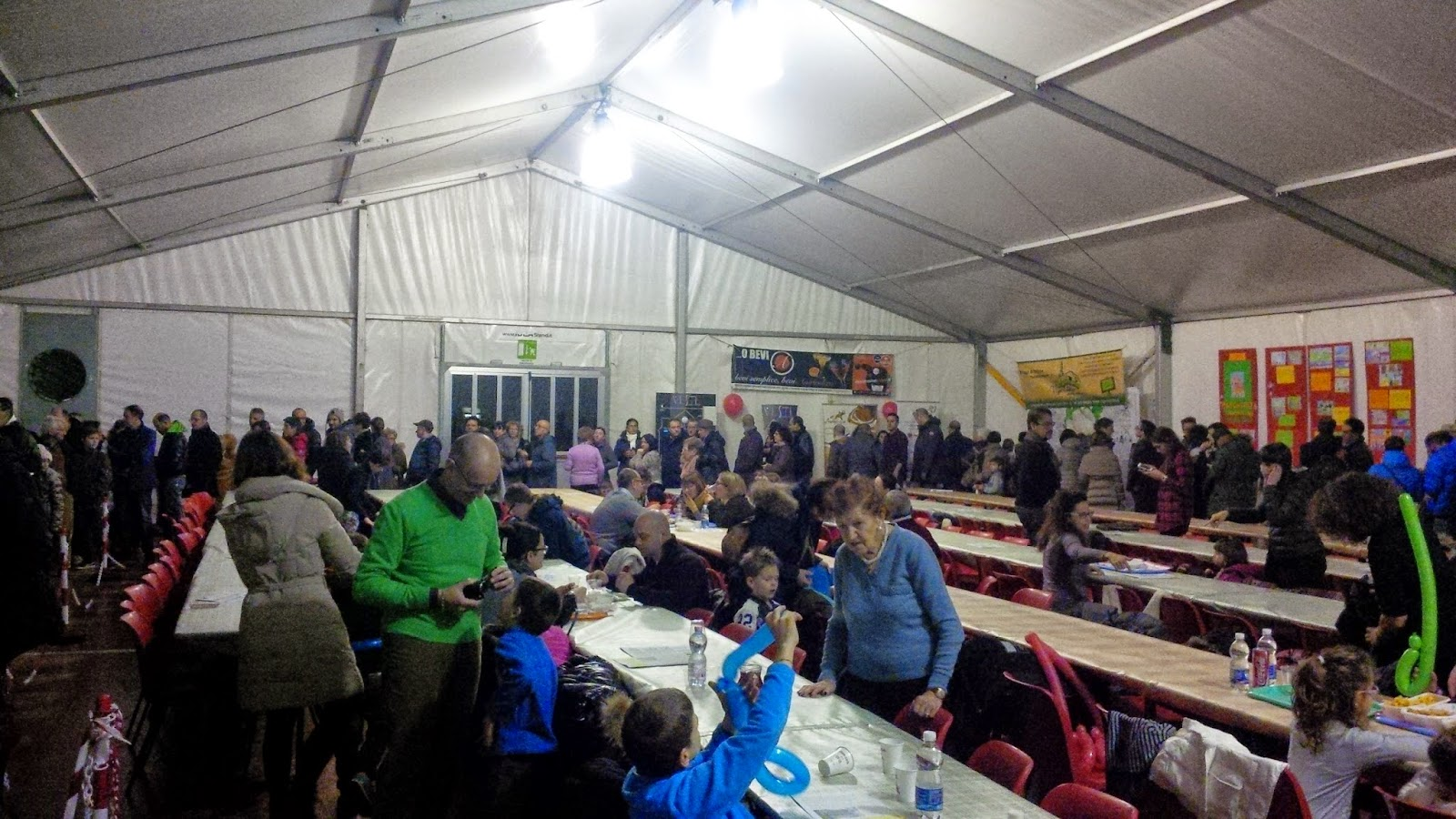 Inside the festival tents in Creazzo