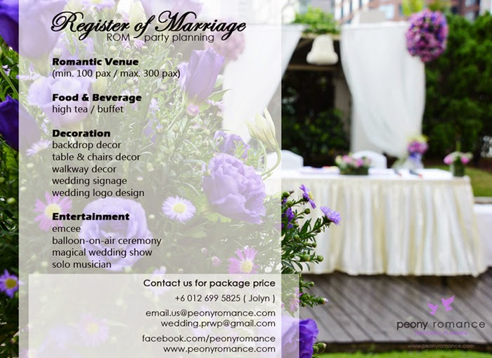 wedding planner package Klang Valley