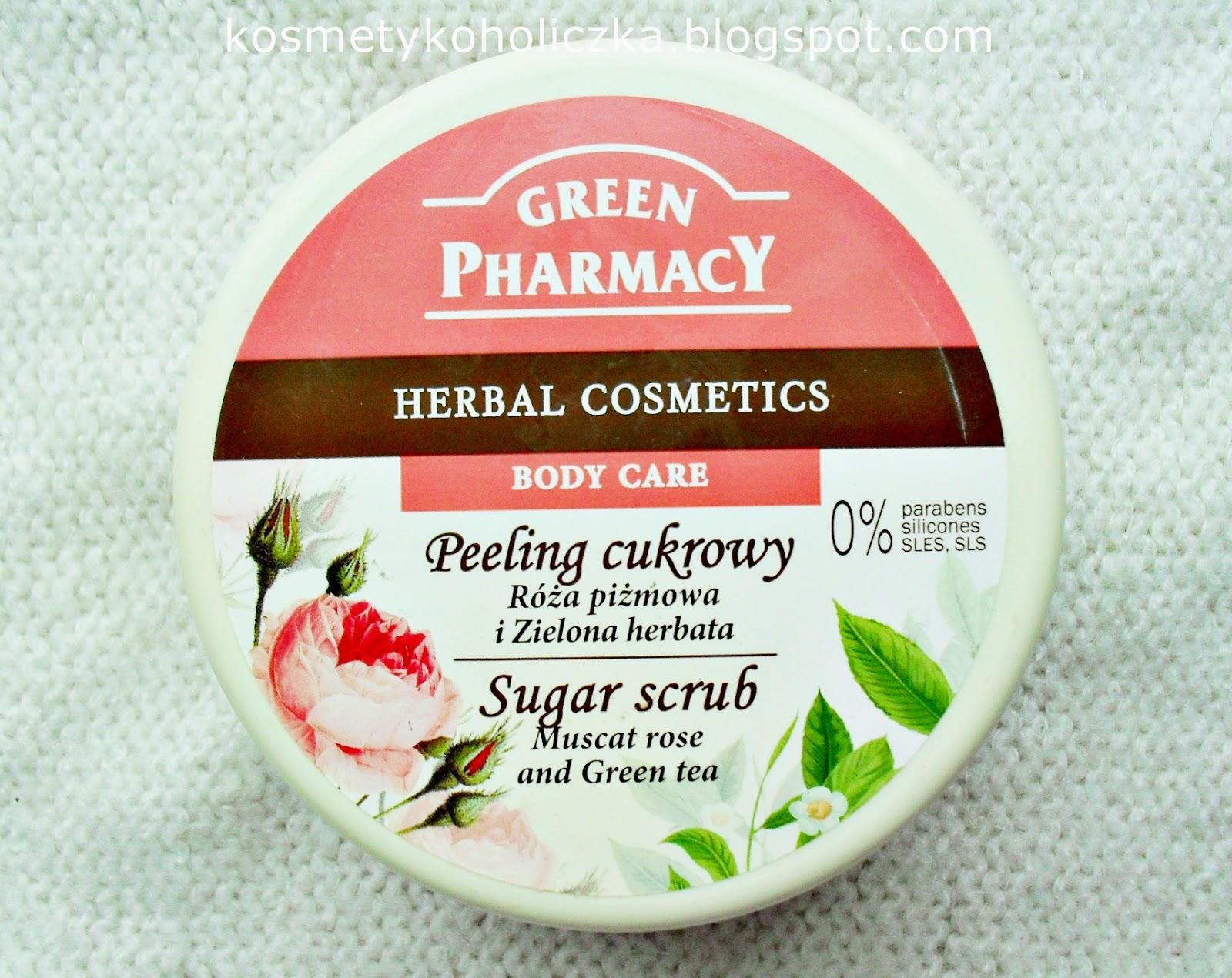 Green Pharmacy | Peeling cukrowy Róża piżmowa i zielona herbata