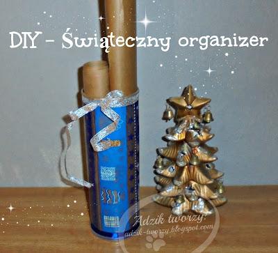 DIY: Świąteczny organizer z recyklingu