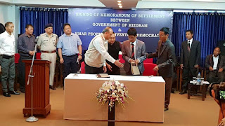 Mizoram Govt. And HPCD Signed Peace Pact On 2nd April 2018