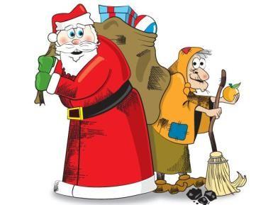 Befana E Babbo Natale.Tre Righe Le Notizie E I Protagonisti Befana Vs Babbo Natale