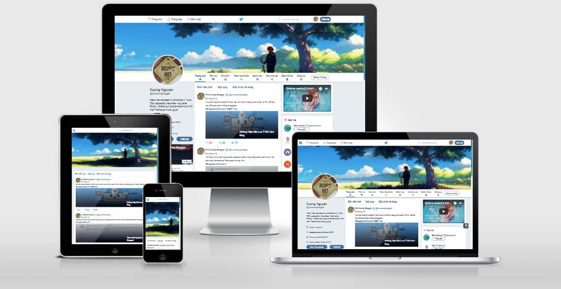 Bán Twitter Responsive Template Blogger By NPC