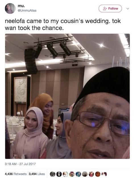 Curi Selfie Dengan Neelofa, Atuk Jadi Perhatian