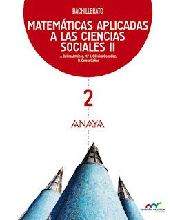 Libro Matemáticas Aplicadas a las Ciencias Sociales II 2º Bachillerato Anaya Proyecto Aprender es Crecer