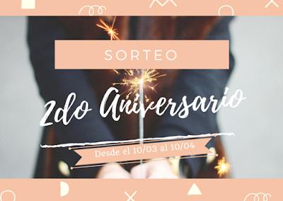 Sorteo Nacional | 2do Aniversario del blog | 5 GANADORES