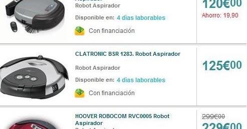 Carrefour robot roomba en