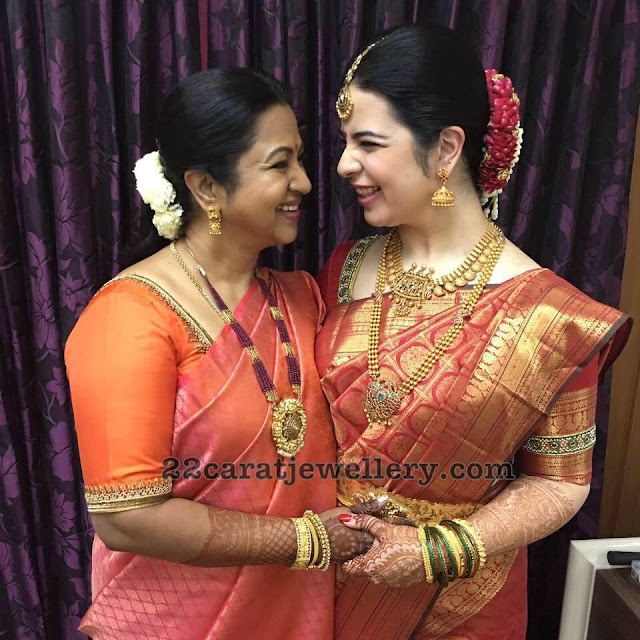 Radhika and Her Daughter Traditional Jewellery